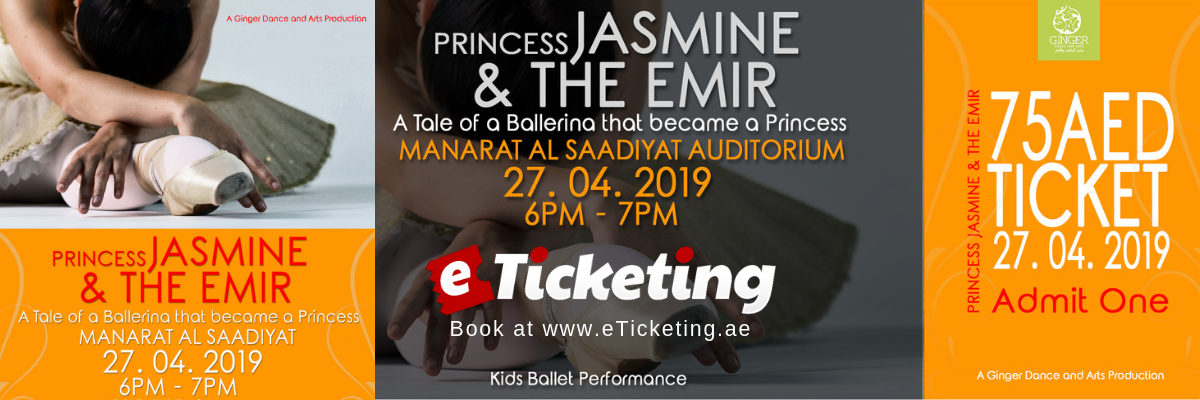Princess Jasmine and The Emir Tickets Ginger Dance and Arts