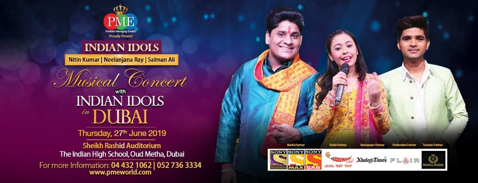 Indian Idols Musical Concert Tickets Portfolio Managing Events