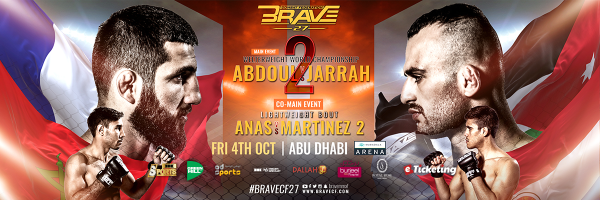 BRAVE 27 Tickets BRAVE Combat Federation