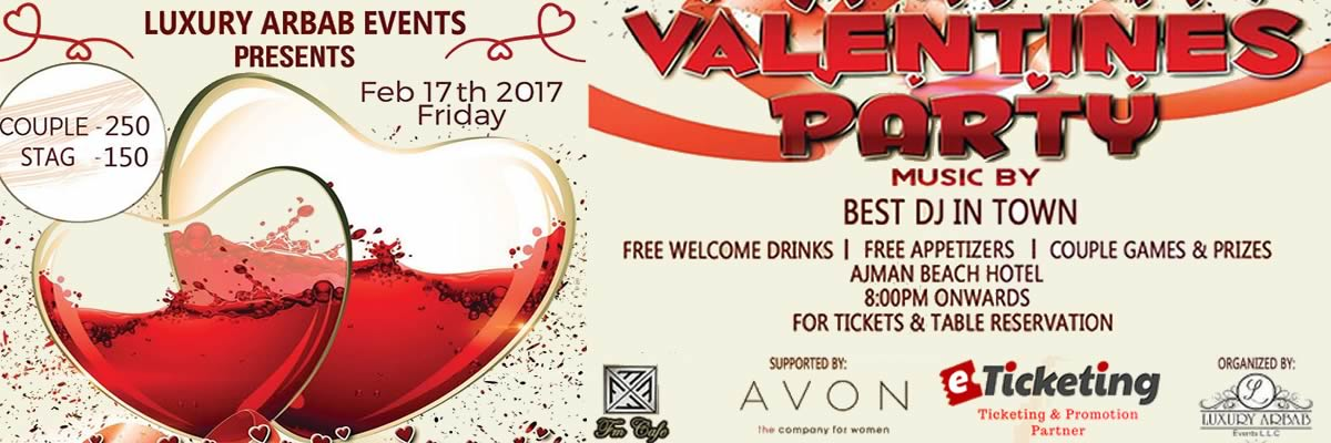 Valentines Party Tickets Luxury Arbab Events
