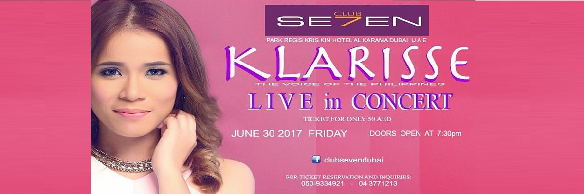KLARISSE Live in Concert Tickets