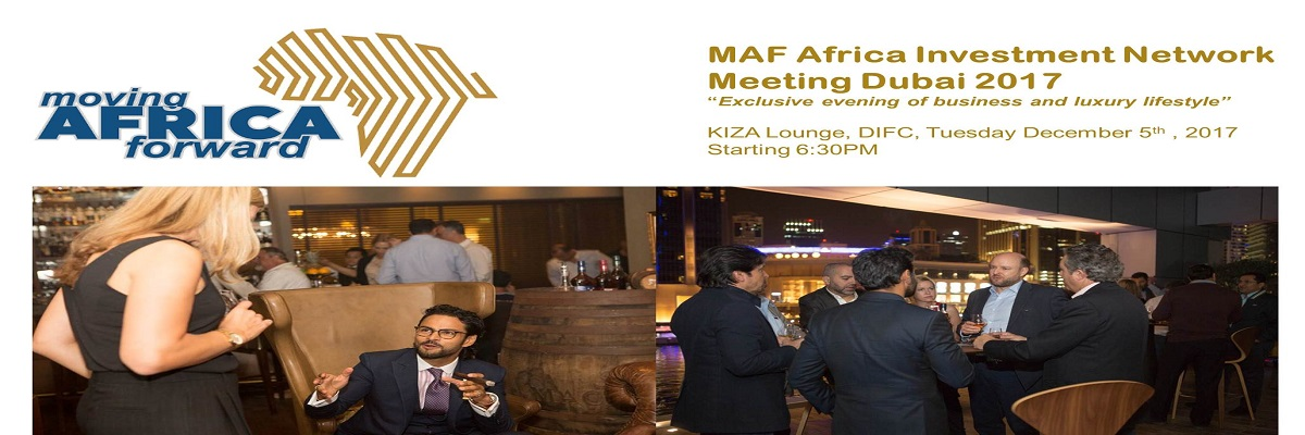 MAF Africa Investment Network Meeting Dubai 2017 Tickets Moving Africa Forward Platform
