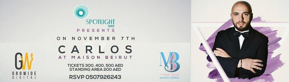 Carlos Tickets Maison Beirut
