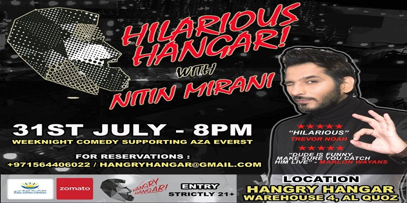 Hilarious Hangar With Nitin Mirani Tickets