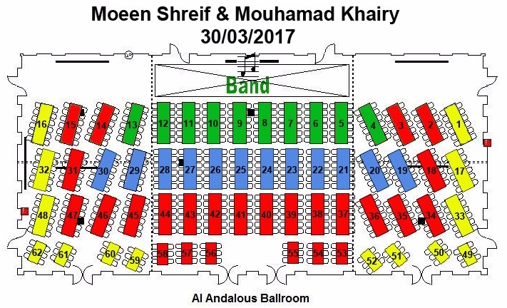 Habtoor Grand Resort, Autograph Collection Seating Plan