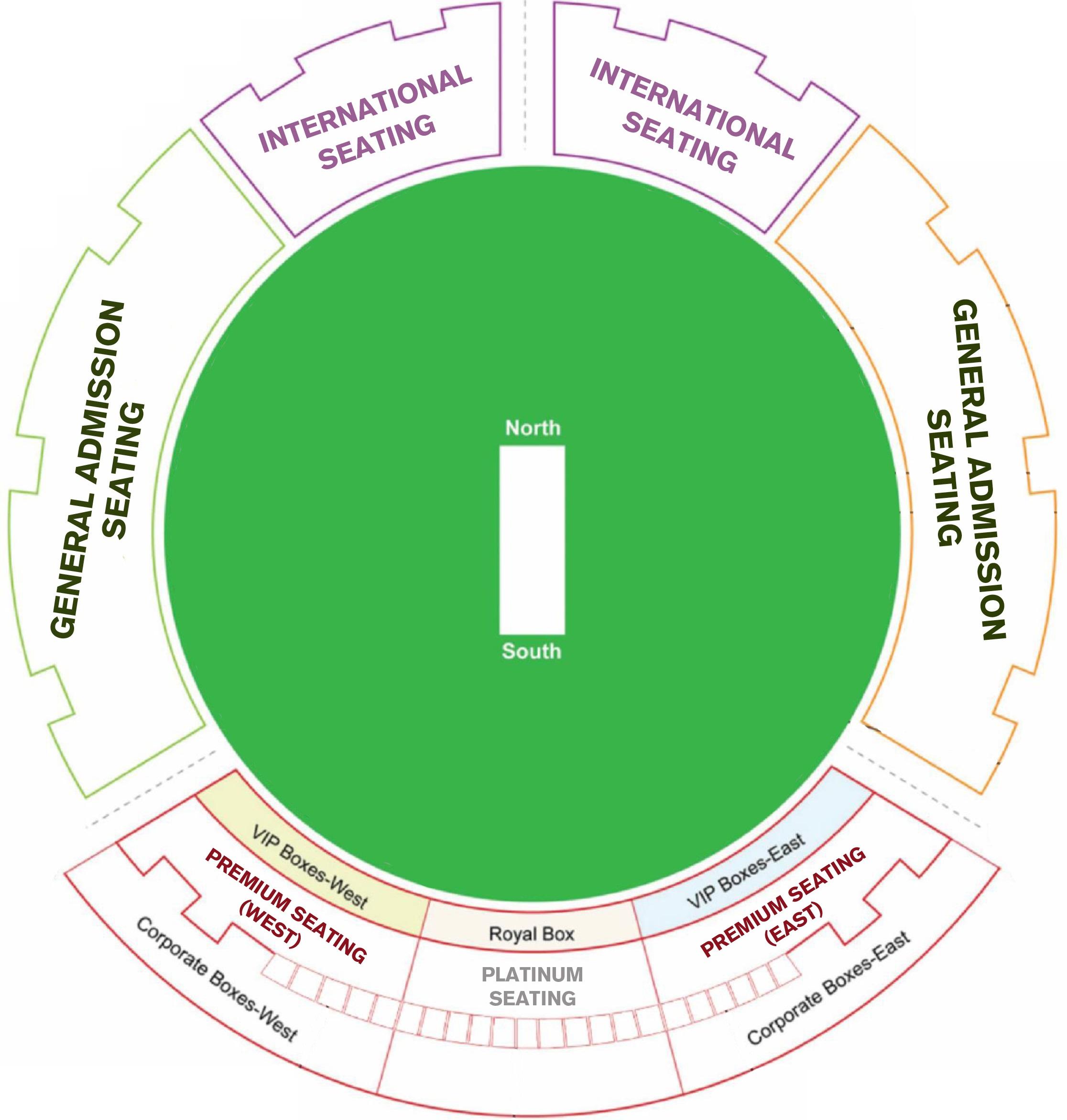 Dubai International Cricket Stadium Seating Plan