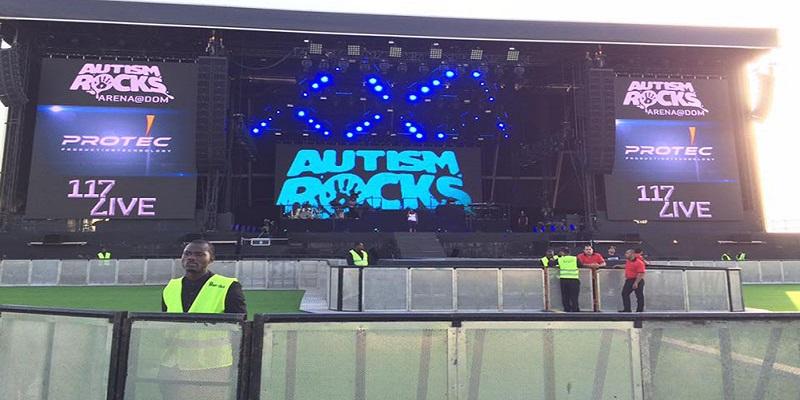 Autism Rocks Arena seating plan