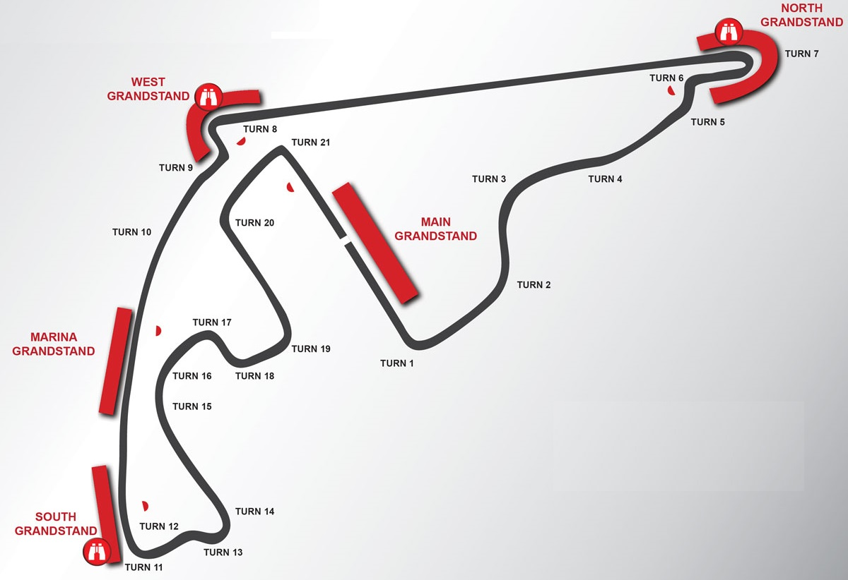 Yas Marina Circuit Seating Plan